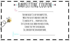 baby sitting voucher template u2013 10 free word pdf documents