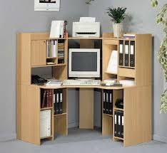 L Shaped Desks Home Office by Awesome Corner Office Desk With Hutch Wonderful Brown Wood Corner
