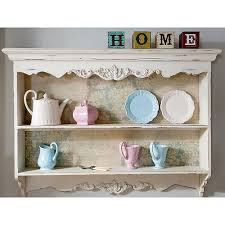 Shabby Chic Kitchen Wallpaper by New Shabby Chic Cream Painted Shelf Unit Floral Laura Ashley