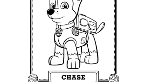 paw patrol paw patrol meet chase colouring pages
