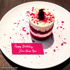 write your name on birthday cupcake picture image 3783783 by