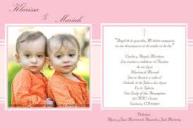 Sample Of Invitation Card For Christening Baptism Invitations In Spanish Template Baptism Invitations