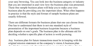 5 sample of business plan proposal pdf project proposal within