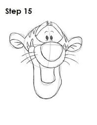 step by step tutorial of how to draw tigger winnie the pooh