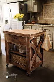 wooden kitchen islands white rustic x small rolling kitchen island diy projects