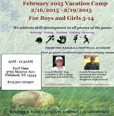 winter camps pittsford little league