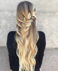 2 braids in front hair down hairstyle long natural hair 50 half up half down hairstyles for everyday and party looks