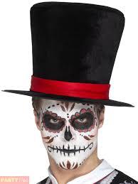 Halloween Skeleton Top by Day Of The Dead Top Hat Halloween Skeleton Mens Fancy Dress