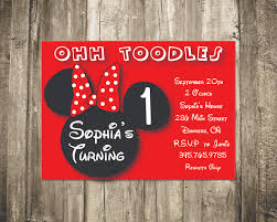 minnie mouse personalized invitations afoodaffair me