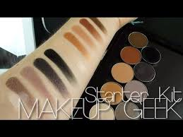 review starter kit makeup geek swatches