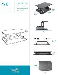 amazon com varidesk height adjustable standing desk pro 36