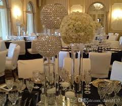 wedding table decorations candle holders selll crystal ball only elgant bowl shaped crystal wedding