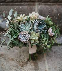 succulent bouquet beautiful succulent wedding bouquets mywedding