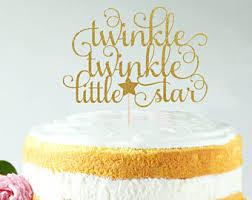 twinkle twinkle cake topper cake topper etsy