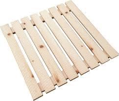 pedana legno pedana doccia 57x57 cm per piatto doccia 80x80 cm abete bricoman