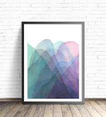 ab home decor mountain print modern art print abstract mountains abstract