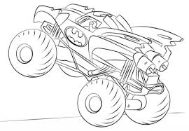 batman monster truck coloring free printable coloring pages