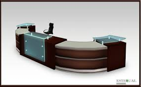 Modern Office Reception Desk Second Marketplace Modern Office Furniture Reception Desk
