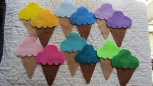 felt ice cream cone kit diy kids crafts party