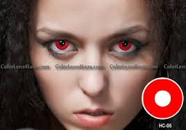 redout halloween contacts pair cheap red halloween contacts