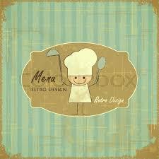 Designs Of Menu Card Vintage Menu Card Designs With Chefs In Retro Style Kids Menu