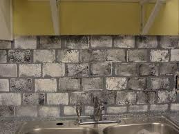 faux brick backsplash kitchen home design ideas