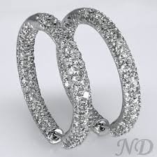 big earing big pave set inside outside hoop earrings