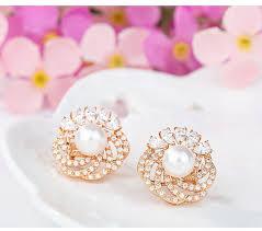 big stud earrings gold plated aaa sea shell pearl luxury big stud earrings