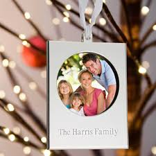 personalized silver picture frame ornament