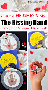 Hershey Kiss Flag Handprint And Kisses Paper Plate Craft Inspired By The Kissing Hand
