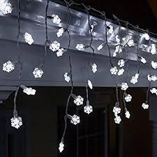70 snowflake cool white led icicle lights 7 5 white