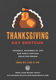 thanksgiving day shotgun iron golf course thursday