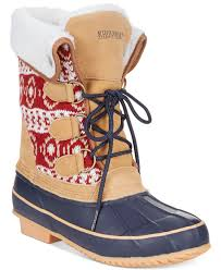 khombu womens boots sale khombu cold weather faux fur boots in blue lyst