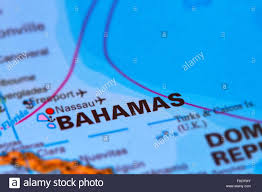 Bahamas World Map Bahamas And Capital Nassau On The World Map Stock Photo Royalty