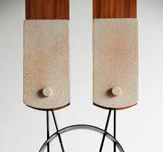 twin lights japanese functional sculpture by hamajima takuya for