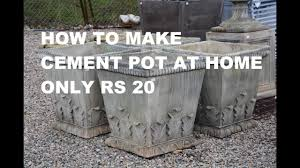 How To Decorate Pot At Home by How To Make Cement Pot At Home Best For Garden Decoration