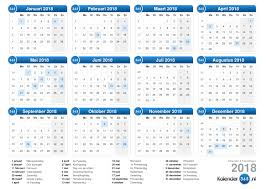 Kalendar 2018 Nederland 2018