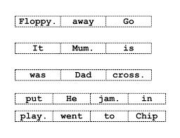 oxford reading tree jumbled sentences cut u0026 stick by ruthbentham