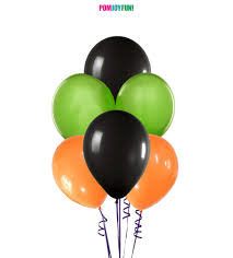 halloween balloon spray orange green and black balloons