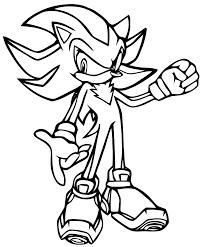 Dessin de coloriage Sonic à imprimer  CP24277