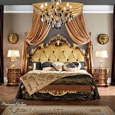 Royal Bedroom by Royal Bedroom With Hardwood Walnut Furniture And Gold Leaf