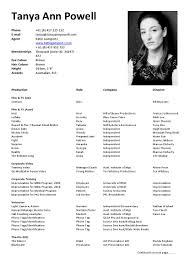 resume examples for actors free acting resume samples and