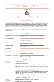 academic advisor resume exol gbabogados co