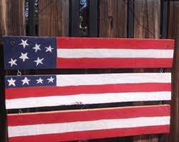 American Flag Home Decor American Flag Pallet Etsy