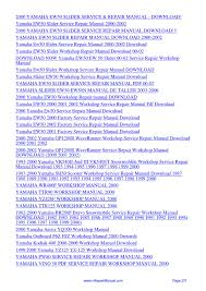 yamaha ew50 slider service repair workshop manual 2000 pdf by