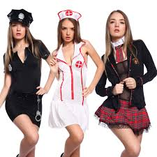 women schoolgirl policewoman cop uniform nurse costume