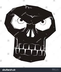 staring ghost skull black halloween vector stock vector 75130879
