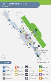 san jose airport on map travelnerd terminal a