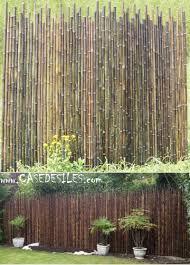 cloture de jardin pas cher cloture bambou irregulier à prix canon clôture bambou naturel