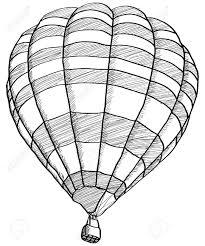 drawing of a air balloon air balloon basket drawing